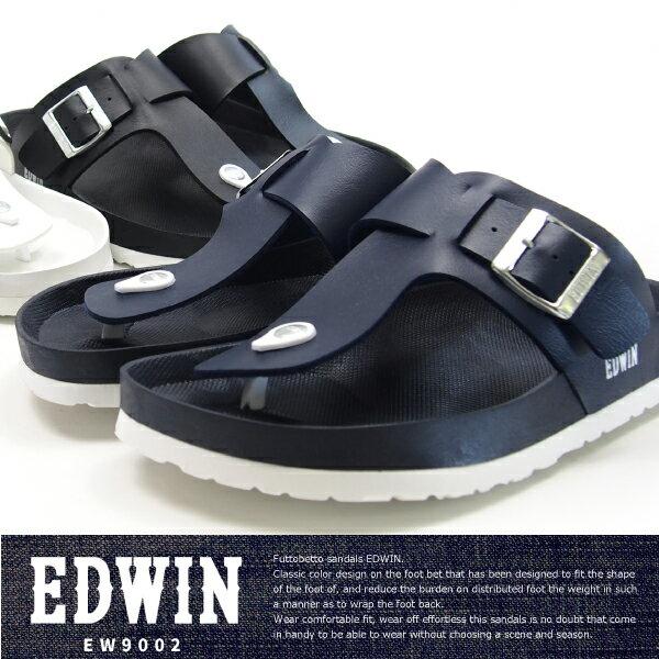 【大特価/即納】 EDWIN エドウィン トングサンダル メンズ 全3色 EW9002 コンフォート フットベットサンダル 水濡れ カジュアル 夏 サマーサンダル