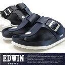 【送料無料】EDWIN エドウィン トングサンダル メンズ 全3色 EW9002 コンフォート フットベットサンダル 水濡れ カジュアル 夏 サマーサンダル
