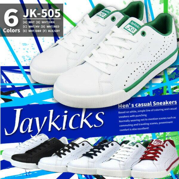 【特価/即納】 Jaykicks ジェイキックス スニーカー メンズ 全6色 JK-505 JK505 ジュニア 軽量 パンチング 白スニーカー 仕事履き 通学 学校靴 普段履き