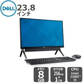 【期間限定SALE!8/11 (火) 13時まで】Dell【受注生産モデル】Windows10搭載 プレミアム 23.8インチFHD オールインワンパソコン Office Personnal 2019付き i5 8GB 256GB SSD+ 1TB HDD ブラック inspiron-24-5940 デスクトップ[新品・1年保証]