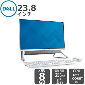 Dell【受注生産モデル】Windows10搭載 プレミアム 23.8インチFHD オールインワンパソコン Office Personnal 2019付き i5 8GB 256GB SSD+ 1TB HDD シルバー inspiron-24-5940 デスクトップ[新品・1年保証]