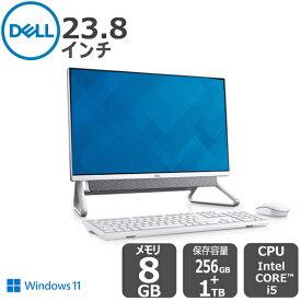 【店内全品P10倍!】Dell公式直販【受注生産】デスクトップパソコン 新品 フレームレス Windows11 Inspiron-5400 Core i5(23.8インチ 8GBメモリ 256GB SSD+ 1TB HDD 1年保証)