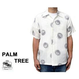 Kona Bay Hawaii コナベイハワイ アロハシャツ パームツリー PALM TREE ハワイ製 レーヨン 白 ホワイト