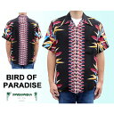 KAMEHAMEHA カメハメハ アロハシャツ バードオブパラダイス レーヨン ハワイ製 黒 ブラック 「BIRD OF PARADISE」