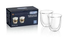 デロンギ ダブルウォールグラス(2個セット) カプチーノ [商品コード:DWG2S-190]