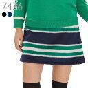 ボーダー柄起毛スカート『冬SALE!不良品以外は返品交換不可』(大きいサイズ)M L レディースゴルフウェア レディース…