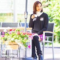 【2019秋冬新作】7525ジャガード織Vネックニット新ロゴ&適度な厚みで暖かい!鮮やか発色で顔色が映える♪ゆったり派も嬉しいゆとりのあるM〜3Lサイズ展開です