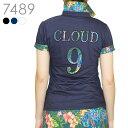 【2019春夏新作】CLOUD 9 花柄ポロシャツ M L LL【大きいサイズ対応】1902fw【送料無料】 半袖 レディースゴルフウェ…