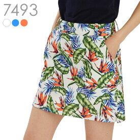 ボタニカルプリントスカート(大きいサイズ)M L LL レディースゴルフウェア レディースゴルフウエア ゴルフウェア|レディース ゴルフ ゴルフウエア ウェア かわいい スカート ゴルフスカート ゴルフウェアレディース 春夏 春 おしゃれ