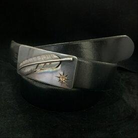 ゴローズ goro's 中古 3cm固定式 フェザーベルト(黒)