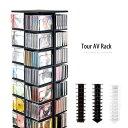 CDラック DVDラック CD&DVD&VHSラック AVラック CD DVD AV 収納 回転式 タワーラック 幅30cm 高さ156cmラック スリム CD...