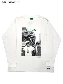 【GUESS GREEN LABEL】GRFW19-049 WHITE GUESS × Ricky Powell (ゲス リッキーパウエル)】 Beastie Boys P1 TEE (ビースティーボーイズ ロングTシャツ)