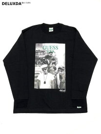 【GUESS GREEN LABEL】GRFW19-049 BLACK GUESS × Ricky Powell (ゲス リッキーパウエル)】 Beastie Boys P1 TEE (ビースティーボーイズ ロングTシャツ)