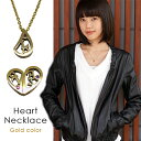 Heart neck gold top