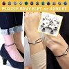 无对生日宝石谜留言编码手镯or脚镯银子彩色一对一对最合适的不锈钢过敏人分歧D APZ0003-SH