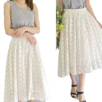 Silent Worth extreme popularity! The size small size sleeve knee-length knee length plain fabric wedding ceremony four circle that there is that dot pattern race flare skirt off 3/16 arrival V neck dolman of superior grade has a big