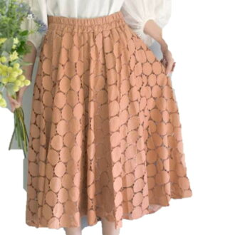 Silent Worth extreme popularity! The size small size sleeve knee-length knee length plain fabric wedding ceremony four circle that there is that dot pattern race flare skirt orange 3/16 arrival V neck dolman of superior grade has a big