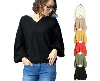 New work 7G 2PLY moss-stitch key neck knit Lady's sweater tunic Lady's Lady's waist rubber tops long sleeves outer ribbon waist りぼん long long shot dress emboss material long shot length French sleeve cotton