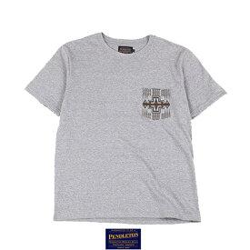 """19801352【PENDLETON】ペンドルトン /""""Harding Print Pocket Tee Japan Fit""""ハーディングポケットTジャパンフィット ネイティヴ柄 Tシャツ ポケT サーフィン アウトドア アメカジ メンズ トップス(GRAY グレー)"""