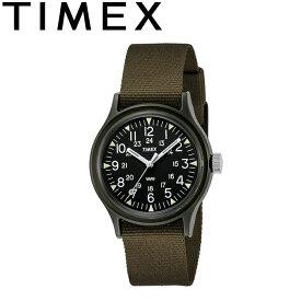 タイメックス TIMEX TW2P88400 ORIGINAL CAMPER オリジナル キャンパー クォーツ ミリタリー ウォッチ 3気圧 30m防水 アウトドア キャンプ メンズ レディース 復刻 軍用時計 腕時計 ブラック×グリーン 国内正規 2021SS