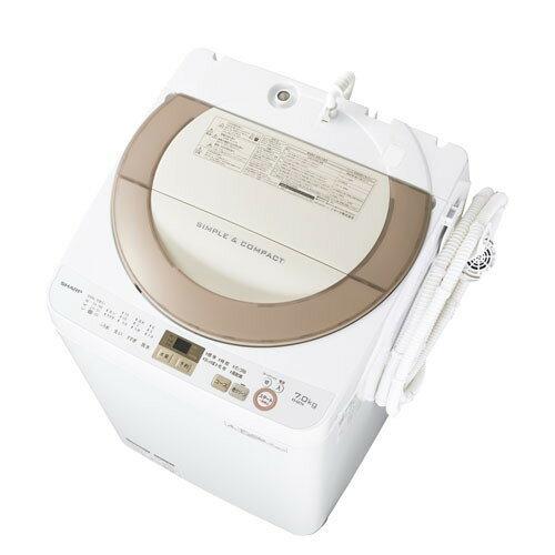 SHARP シャープ【ES-GE7A-N】ESGE7A-N 7.0kg 全自動洗濯機 ゴールド系 穴なし槽 風呂水ポンプ付き【KK9N0D18P】
