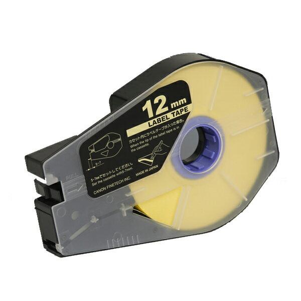 3476A028 Canon(キヤノン)製 ラベルテープカセット12mm×30m【黄】(3個入/箱)<ケーブルIDプリンタ 消耗品>