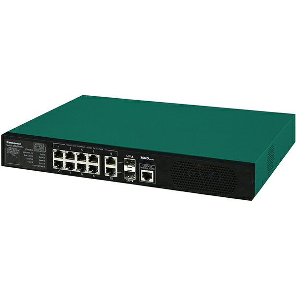 Switch-M8eGPWR+ パナソニック PN28089K 全ポートギガ レイヤ2 PoE給電スイッチングハブ 8ポート