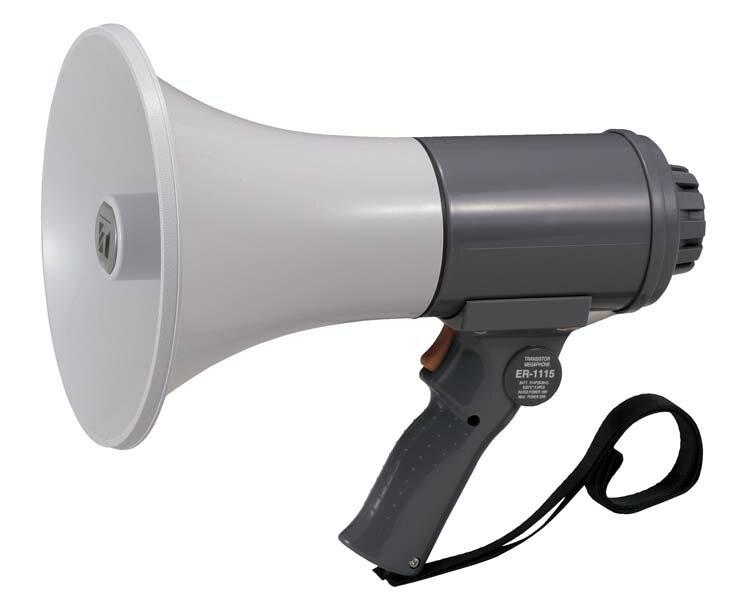【1月特価品】【送料無料】ER-1115 TOA 中型メガホン 15W 防滴タイプ | 拡声器 | メガホン | イベント | 運動会 | 避難訓練 | 誘導 | 防災 | 演説 | 学校 | 消防
