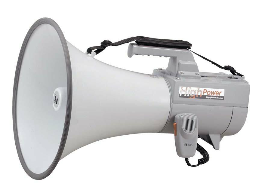 【1月特価品】【送料無料】ER-2130W TOA 大型メガホン ホイッスル音付き 拡声器 学校 避難訓練 消防 | 拡声器 | メガホン | イベント | 運動会 | 避難訓練 | 誘導 | 防災 | 演説 | 学校 | 消防