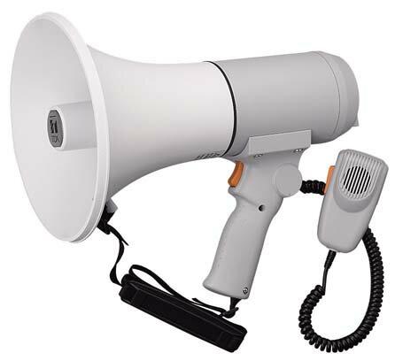 【1月特価品】【送料無料】ER-3115 TOA 中型メガホン | 拡声器 | メガホン | イベント | 運動会 | 避難訓練 | 誘導 | 防災 | 演説 | 学校 | 消防