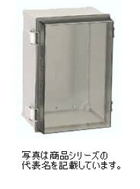 日東工業 蝶番付ポリカボックスPBC18-3020材質:ポリカーボネイト樹脂取付基板:鉄製基板(1.6MM)カバー:蝶番式(樹脂製)