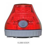 日恵製作所 電池式回転灯 ニコPOTφ80 (充電式)赤色 VL08B-003DR
