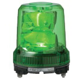 パトライト 強耐震大型LED回転灯■型式:RLR-M1-G■定格電圧:DC12/24V(兼用)■色:G(緑)■消費電力:7.6W■閃光数:105回/分■質量:1.0kg