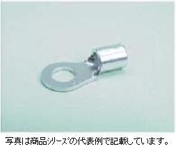 冨士端子工業 銅線用裸圧着端子(R型)丸型圧着端子 1.25SQ AWG22-16用R1.25-6(1箱100個入り)