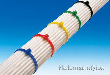 ヘラマンタイトン インシュロックカラータイ【色:青】【標準グレード/屋内使用】T18S-BLU