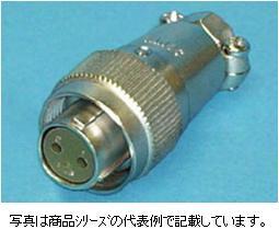 三和電気工業 丸型コネクタSNS-1604-PCF プラグ(ストレート)極数:4極
