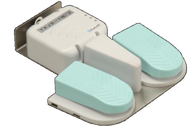 国際電業 無線防水フットスイッチ■型式:TRJB-1W-2■仕様:2連式 無線通信:Bluetooth方式■防水:IPX8相当