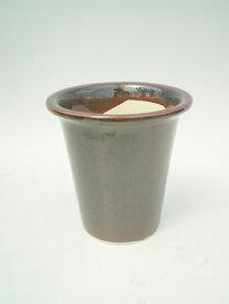 【関連資材】陶器鉢(焦茶色)4.0号