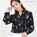 盛り袖 小花柄ブラウス オーバーサイズ ゆる 花柄シャツ ふんわり ゆるシャツ ブラウス 花柄 ブラック ゆるカジ 長袖 …