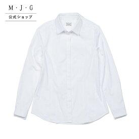 【M・J・G公式】 [SALE] エムジジェ/タイトシャツ/レディース オフホワイト トップス シャツ ミセス きれいめ GMT619