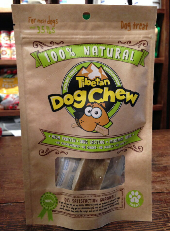 Mount Tibet Dog Chewマウントチベットドッグチュー無添加ヤクミルクガムMサイズ 約70g歯石、口臭対策自然派長持ちガム