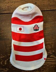 数量限定!送料無料!日本ラグビー協会認定オフィシャルドッグTシャツ3号レッドラグビー日本代表公式ジャージ