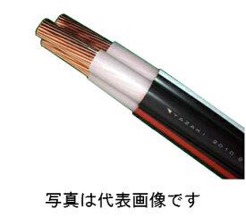 矢崎エナジーシステムCVT100SQ <切売>600Vトリプレックスケーブル