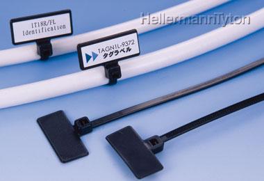 ヘラマンタイトンIT18FL-W マーキングタイ 屋内外使用 耐候グレード 100本入り 色 黒 全長L110mm 幅2.5mm