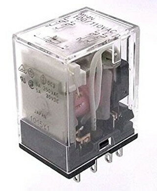 【あす楽】オムロンMY4N AC100/110Vミニパワーリレー動作表示灯内蔵形(4極)