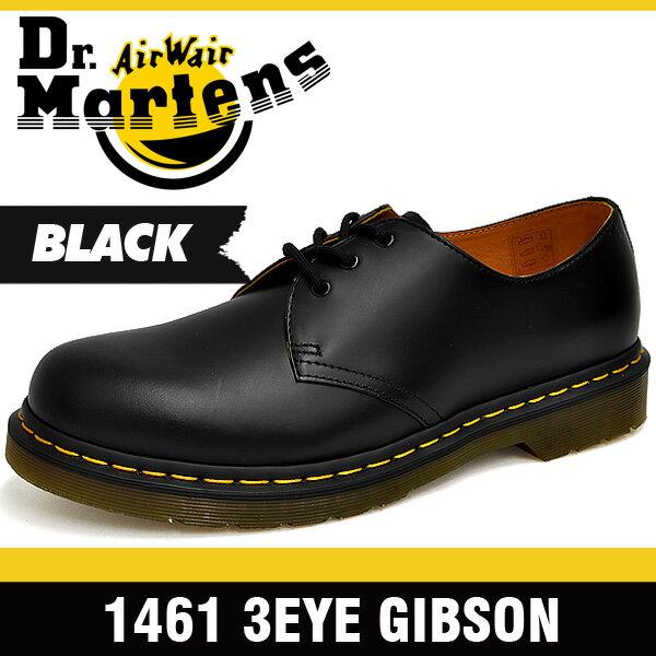 ドクターマーチン (Dr. Martens)ギブソン 3ホール シューズ ブラック メンズ R11838002 1461 3Hole Shoes