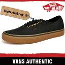 バンズ スニーカー メンズ レディース オーセンティック ブラック/ラバー VANS AUTHENTIC BLACK/RUBBER TSVBXH