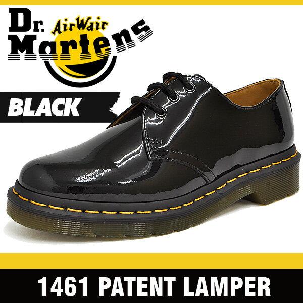 ドクターマーチン フォーマル レディース 3アイ ギブソン ブラックパテントランパー Dr.Martens 1461 3EYE GIBSON BLACK PATENT LAMPER 10084001