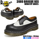 ドクターマーチン フォーマル メンズ レディース 5アイ ブローグ ブラック/ホワイト Dr.Martens 5EYE 3989 BROGUE SHOE BEX...