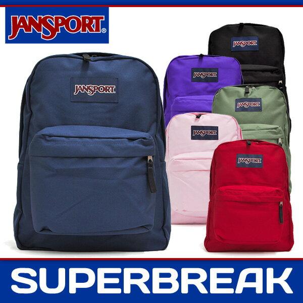 ジャンスポーツ リュック メンズ レディース スーパーブレイク ブラック/ネイビー/レッドテープ/グリーン/パープル/ピンク JANSPORT SUPERBREAK BLACK/NAVY/RED TAPE/GREEN/PURPLE/PINK JS00T501 008 003 5XP 0HC 31D 3B7